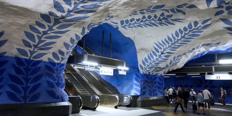 Metro, Stacija, Stokholma, T-Centralen, Zviedrija, māksla, art