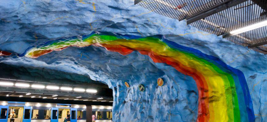 Stokholma, metro, stacija, Stadion, māksla, Zviedrija