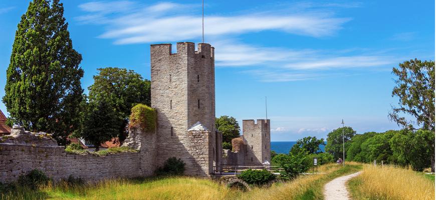 Zviedrija, Gotlande, Visbija, mūris, UNESCO, ar prāmi