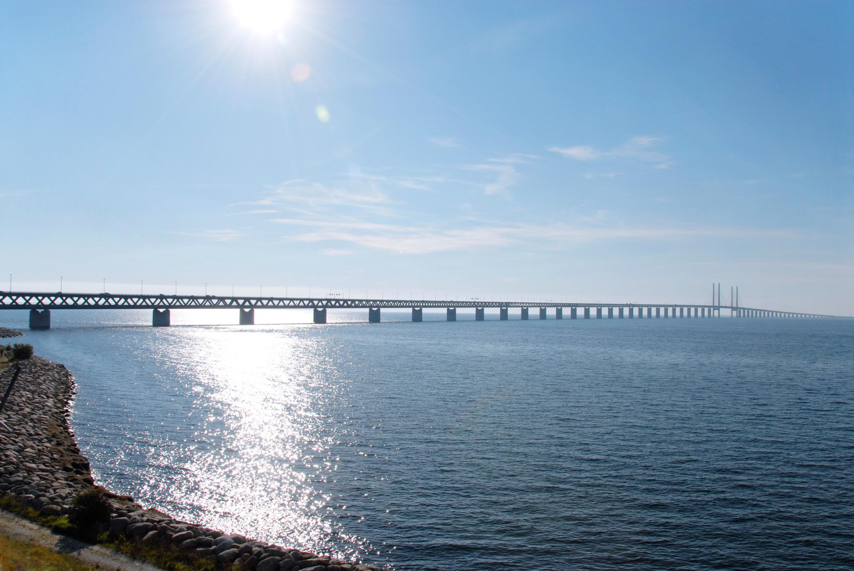 Malmo, Skane, Zviedrija, Eresund tilts, Ēresuna tilts,