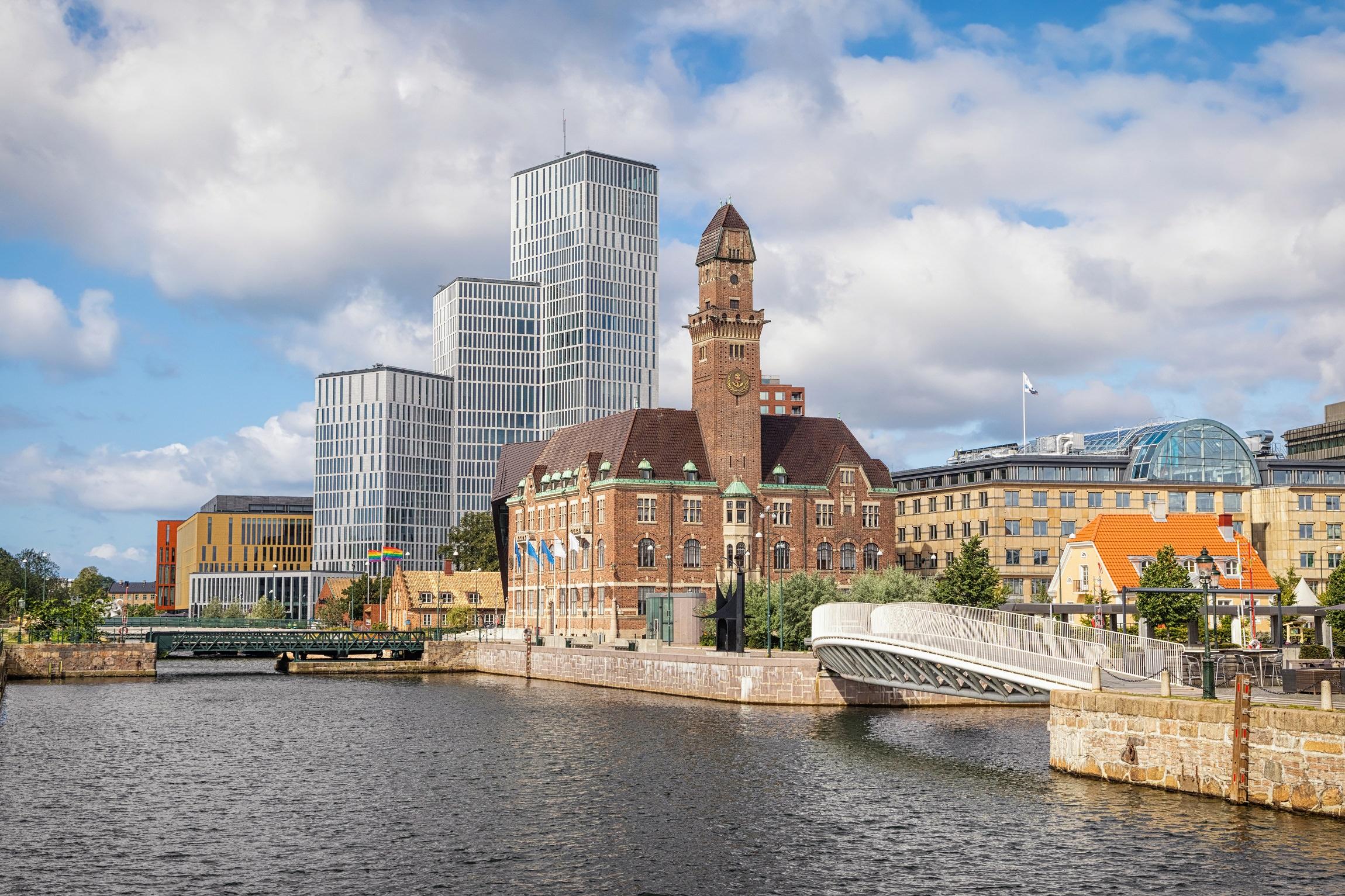 Zviedrija, Trelleborga, Skåne, Turning torso, augstākais tornis Skandināvijā, Malmö, Malme, tilts uz Dāniju, Skandināvija, Zviedrijas Dienvidi