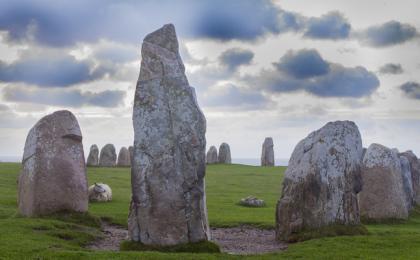 Skane, Malme, Ale's Stones, Ale akmeņi, Akmeņu krāvums, Zviedrija, Vikingi, Zviedrijas Dienvidi