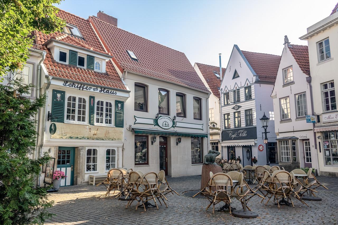 Brēmene, Bremen, kvartāls, Schnoor, hipsteru kvartāls, māksla, teātri, Vācija,