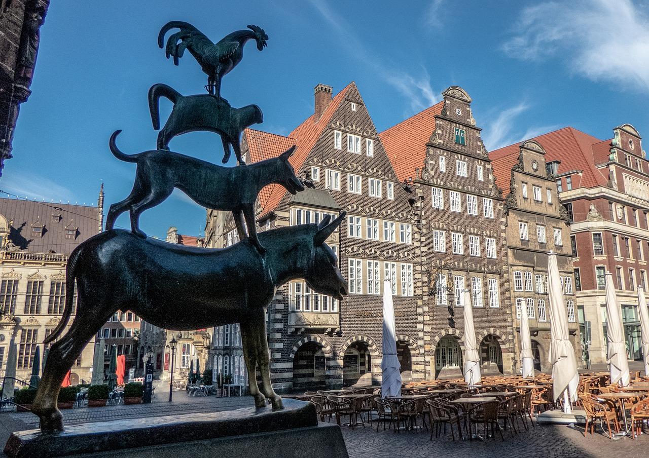Bremen, Brēmene, Brēmenes muzikanti, Rātsnams, Vācija