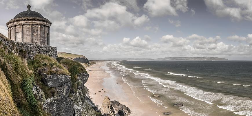 Belfāsta, Īrija, Ziemeļīrija, Downhill pludmale, Troņu spēles, filmēšanas laukums, Game of Thrones, kāpas