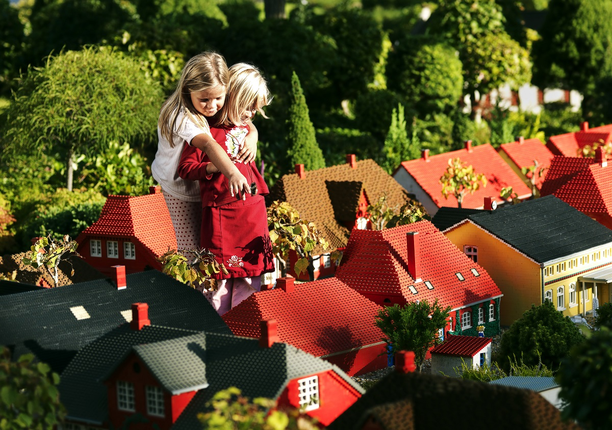 Legoland, Miniland, Lego, Dānija, Billunda, atrakciju parks, lego klucīši, miniatūras pilsētas, ceļo ar bērniem