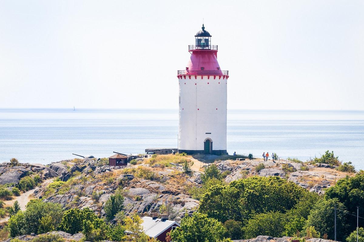 Landsort, bāka, jūras piekraste, Nīnashamna, Zviedrija, Skandināvija, jūra, navigācija, vēsture