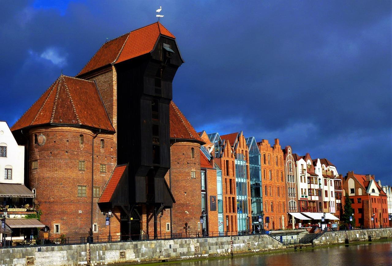 celtnis, Dzērve, polija, Gdaņska, vārti, vēsturiska celtne, Gdaņskas simbols, ko apskatīt Polijā