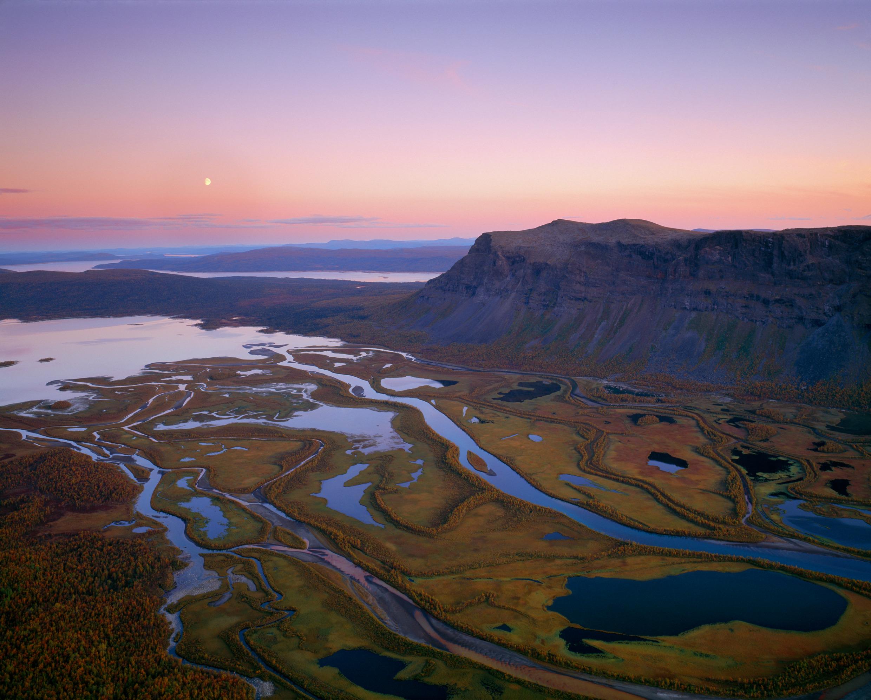 Sareka Nacionālais parks, Zviedrija, Rapa ieleja, Lapzeme, kalni, ieleja, pārgājiens